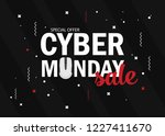 cyber monday background design. ... | Shutterstock .eps vector #1227411670