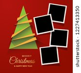 christmas tree with photos ...   Shutterstock .eps vector #1227413350