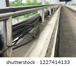 high voltage cable on the... | Shutterstock . vector #1227414133