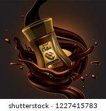 coffee jar and splash effect  ... | Shutterstock .eps vector #1227415783