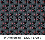 impossible figures isometric 3d ... | Shutterstock .eps vector #1227417253