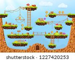 video game. cartoon elements... | Shutterstock .eps vector #1227420253