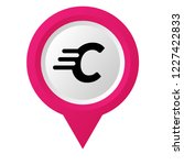letter c and map pin. designed...