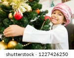 arabic cute boy with new year... | Shutterstock . vector #1227426250