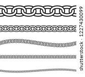 set of black isolated outline... | Shutterstock .eps vector #1227430099