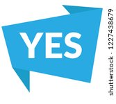 yes sign label.yes speech... | Shutterstock .eps vector #1227438679