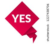 yes sign label.yes speech... | Shutterstock .eps vector #1227438706