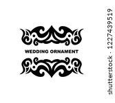 wedding ornament vector...   Shutterstock .eps vector #1227439519