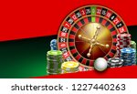 illustration online poker... | Shutterstock .eps vector #1227440263