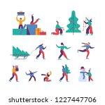 vector winter season set... | Shutterstock .eps vector #1227447706