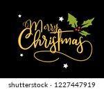 merry christmas text.... | Shutterstock .eps vector #1227447919