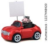 fun hippo   3d illustration | Shutterstock . vector #1227448420