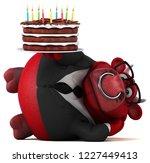 fun bull   3d illustration | Shutterstock . vector #1227449413
