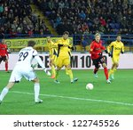 Small photo of KHARKIV, UA - NOVEMBER 22: Bayer Leverkusen FW Stefan Kie?ling (R) in action during UEFA Europa League Group stage football match vs. FC Metalist Kharkiv, November 22, 2012 in Kharkiv, Ukraine