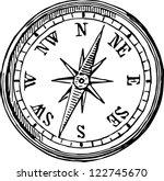 compass   Shutterstock .eps vector #122745670