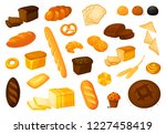 set  bread icons.  illustration ... | Shutterstock . vector #1227458419
