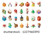 christmas lowpoly polygonal new ... | Shutterstock .eps vector #1227460393