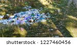 garbage in forest. people... | Shutterstock . vector #1227460456