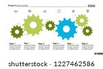 six step process chart with... | Shutterstock .eps vector #1227462586