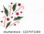christmas composition. red... | Shutterstock . vector #1227471283