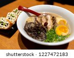 japanese style noodle chashu... | Shutterstock . vector #1227472183