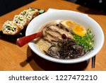japanese style noodle chashu... | Shutterstock . vector #1227472210