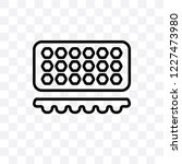 muffin pan vector linear icon... | Shutterstock .eps vector #1227473980