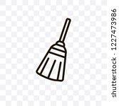 broom vector linear icon... | Shutterstock .eps vector #1227473986