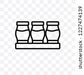 yogurt maker vector linear icon ... | Shutterstock .eps vector #1227474139