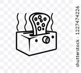toaster vector linear icon... | Shutterstock .eps vector #1227474226