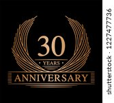 30 years design template. 30th... | Shutterstock .eps vector #1227477736