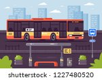 bus public transport at the... | Shutterstock .eps vector #1227480520