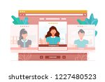 app for evaluating and rating...   Shutterstock .eps vector #1227480523