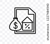 mortgage vector linear icon... | Shutterstock .eps vector #1227484540