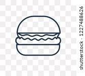 complete hamburger vector... | Shutterstock .eps vector #1227488626