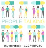 people talking and discussing... | Shutterstock .eps vector #1227489250