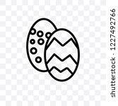 easter egg vector linear icon... | Shutterstock .eps vector #1227492766