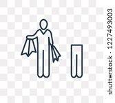 shopper man vector outline icon ...   Shutterstock .eps vector #1227493003
