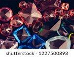 set of beautiful blue sapphires ... | Shutterstock . vector #1227500893
