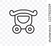 wedding carriage vector linear...   Shutterstock .eps vector #1227502339