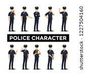 police character set  vector... | Shutterstock .eps vector #1227504160