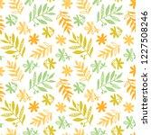 flowers  herbs  leaves seamless ... | Shutterstock .eps vector #1227508246
