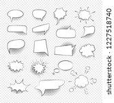 comic speech bubbles signs... | Shutterstock .eps vector #1227518740
