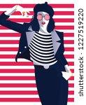 fashion woman in style pop art. ... | Shutterstock .eps vector #1227519220
