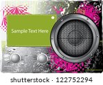 music abstract card
