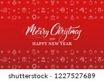 merry christmas and happy new... | Shutterstock .eps vector #1227527689