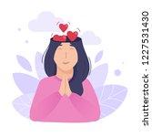 inside woman s head concept.... | Shutterstock .eps vector #1227531430