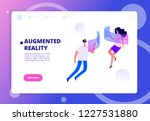 augmented reality concept.... | Shutterstock .eps vector #1227531880
