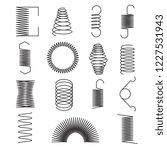 metal spring icons. flexible... | Shutterstock .eps vector #1227531943