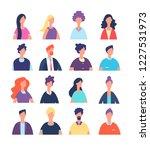 people avatars. cartoon man and ... | Shutterstock .eps vector #1227531973